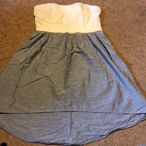 Size 11 juniors hi low strapless dress